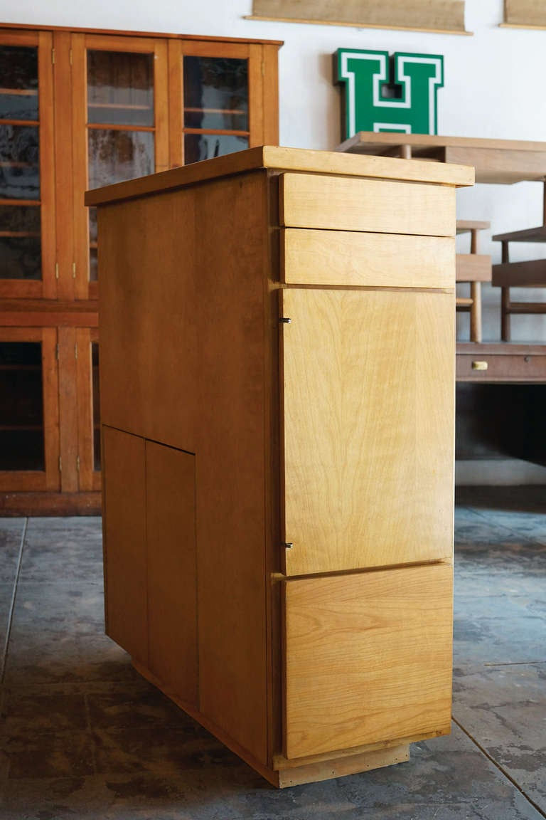 Handmade Mid Century Curio Bookcase Cabinet Room Divider
