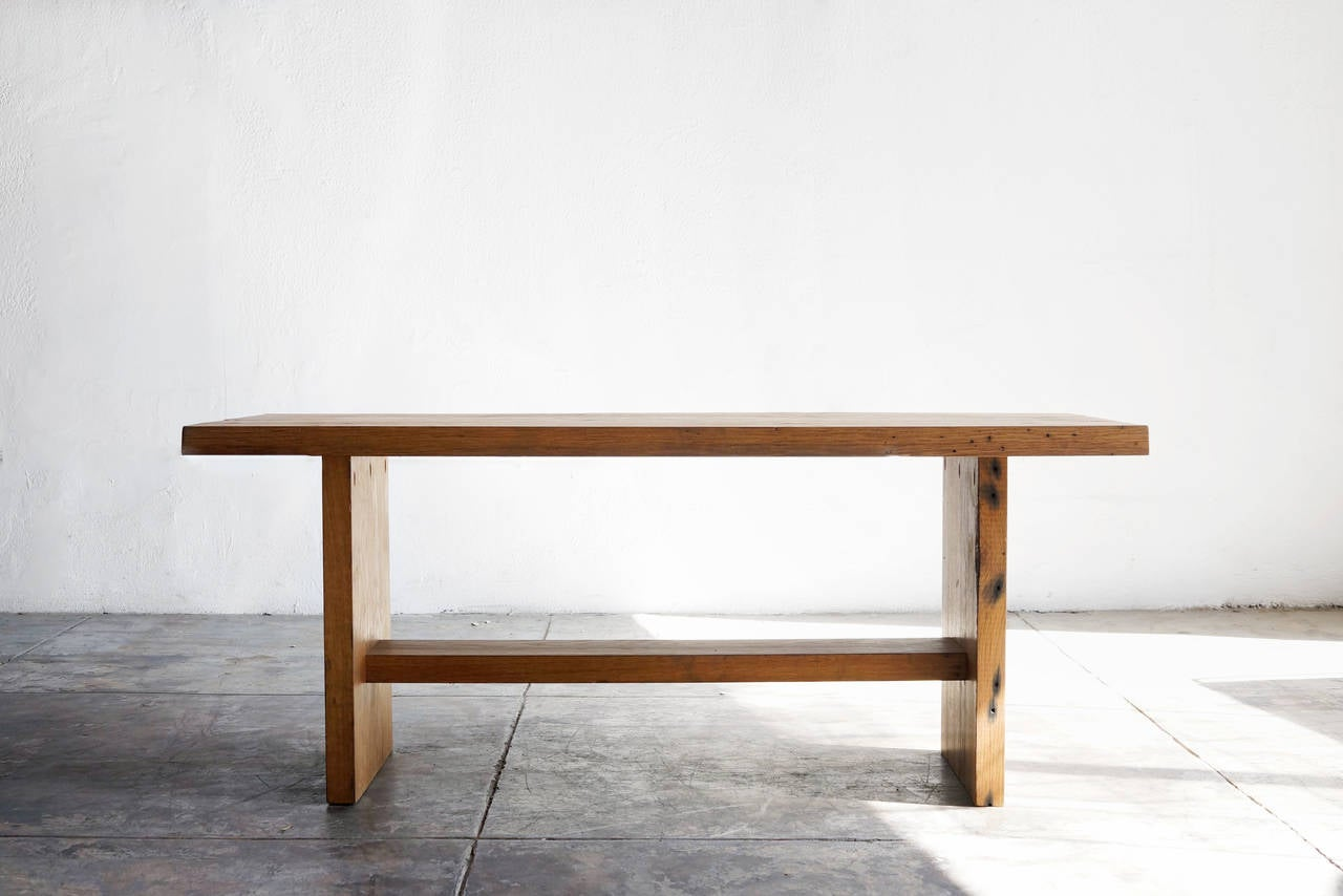 Reclaimed Antique Oak Coffee Table Or Bench At 1stdibs