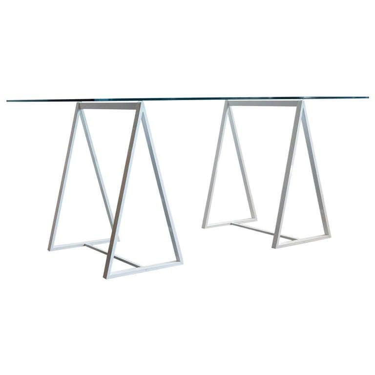 Minimalist Saw Horse Triangle Table Legs, C. 1960s 1