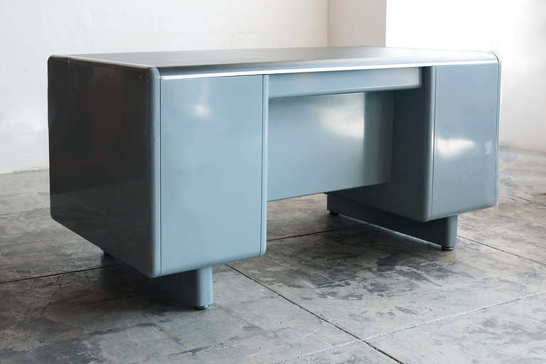 Tanker Desk By Steel Age Refurbished At 1stdibs