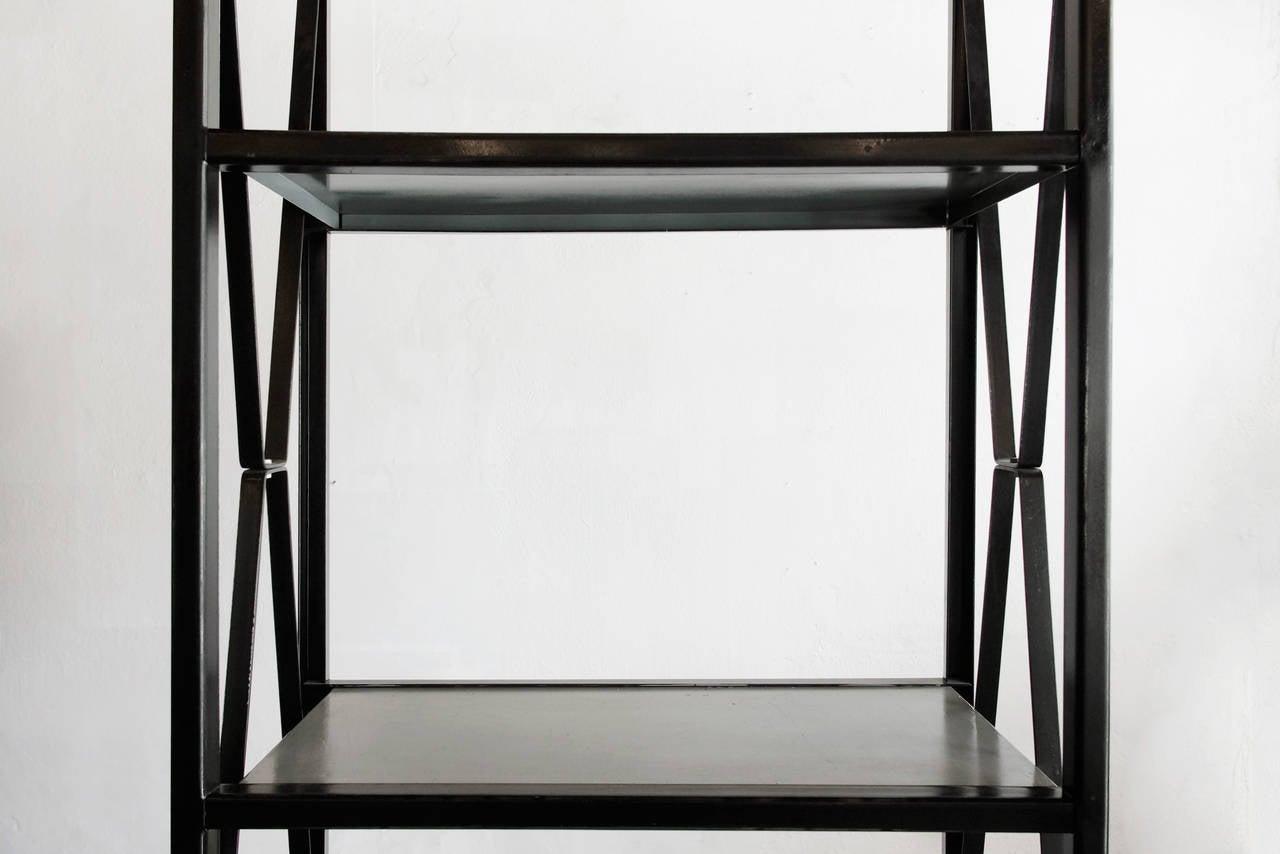 mid century vintage industrial shelving unit at 1stdibs. Black Bedroom Furniture Sets. Home Design Ideas