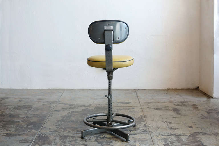 Vintage Drafting Stool By Cramer Circa 1940 S At 1stdibs