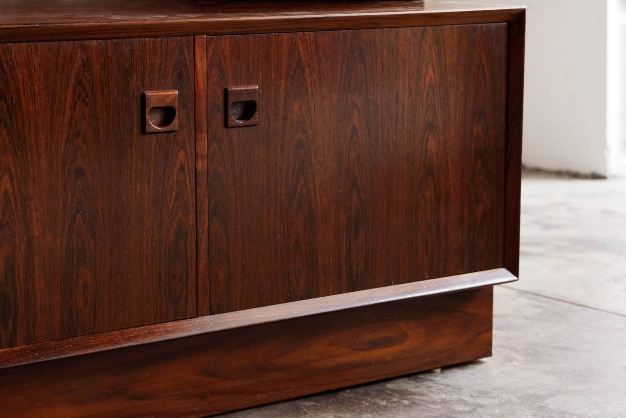 Danish Modern Rosewood Cabinet by Brouer For Sale at 1stdibs