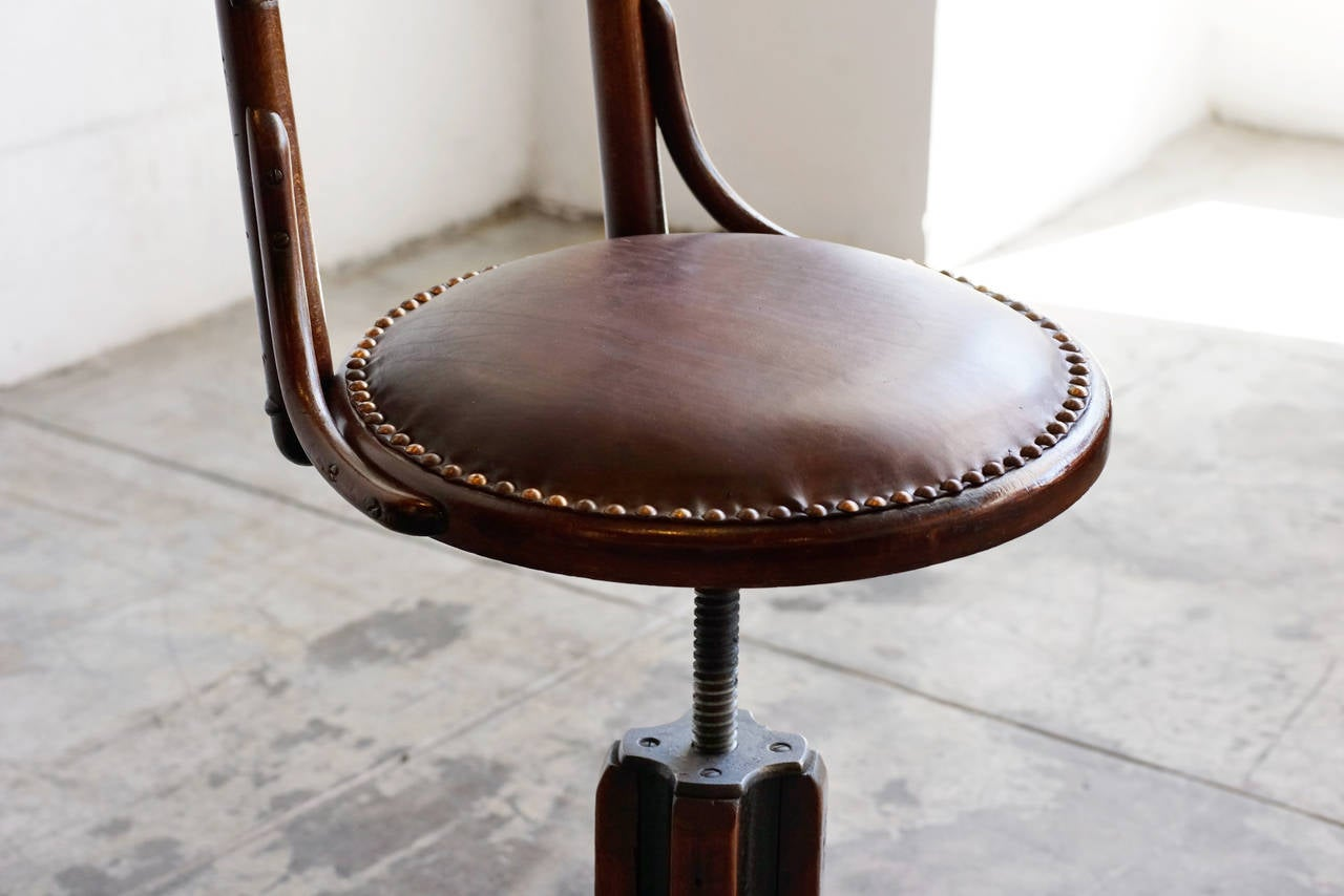 Antique Wood Drafting Stool Circa 1890s At 1stdibs