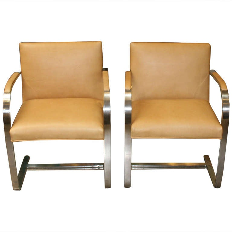 Knoll Mies Van Der Rohe Brno Chairs At 1stdibs