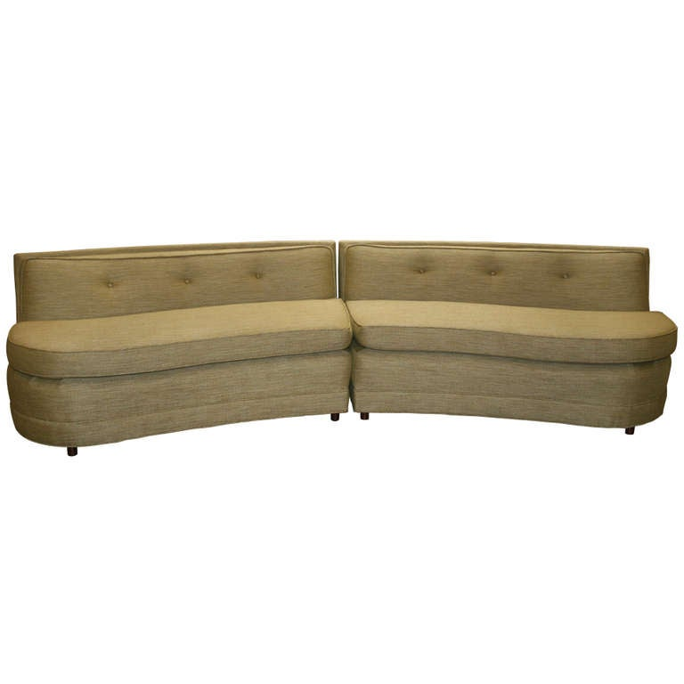 Mid Century Curved Sofa At 1stdibs