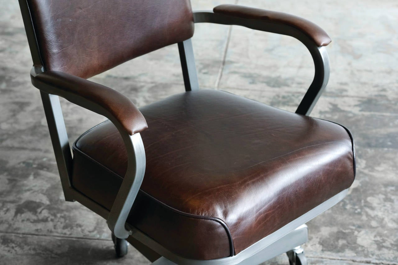 1960s Solid Back Steno Chair By Mcdowell Craig Refinished At 1stdibs
