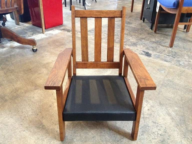 Antique Mission Style Oak Child's Chair at 1stdibs