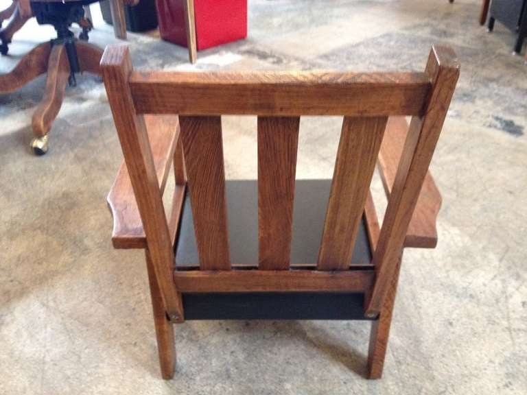 Antique Mission Style Oak Child S Chair At 1stdibs