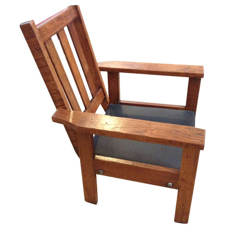 antique mission style oak child 39 s chair at 1stdibs