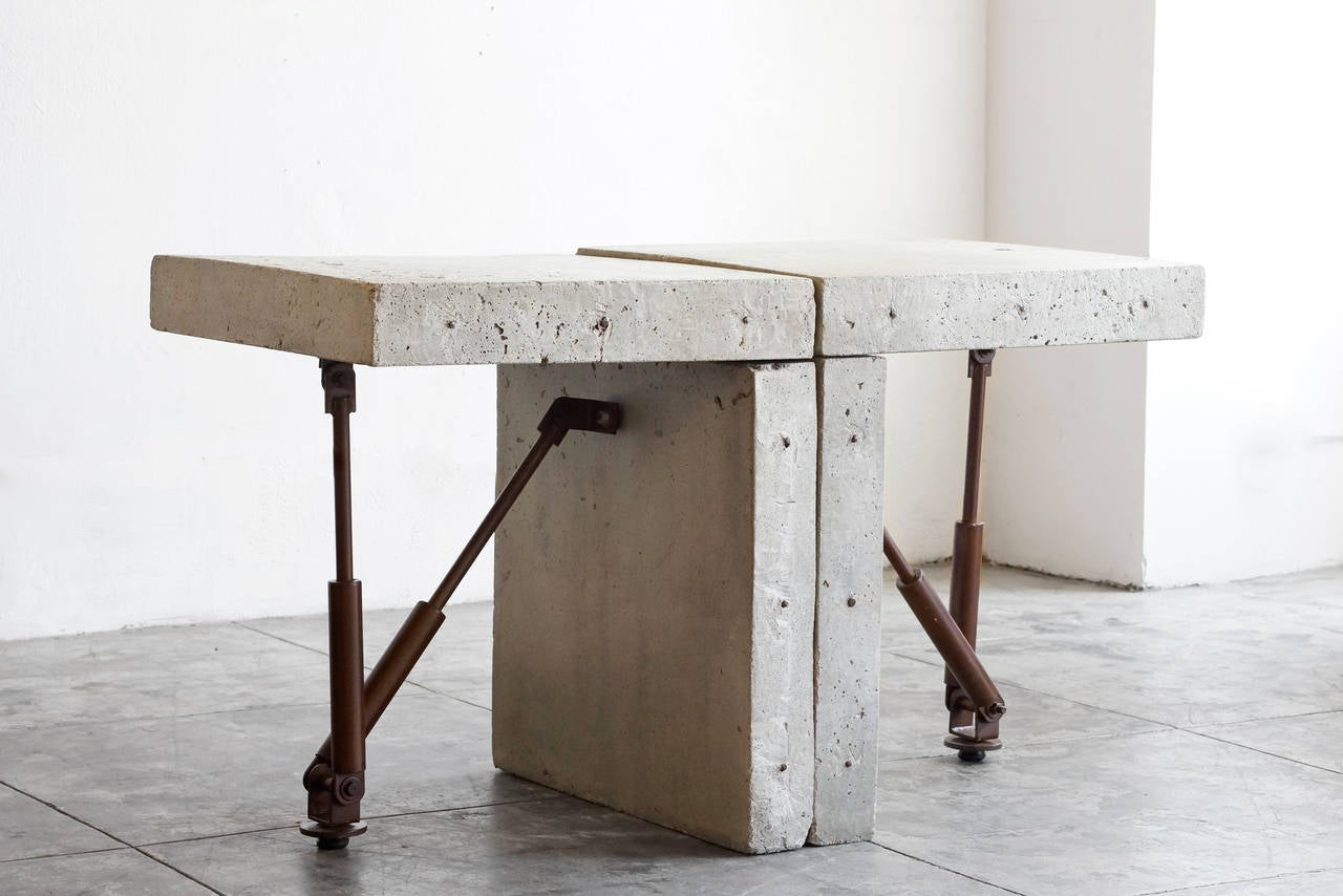 Cast Concrete Display Tables, One Available, Circa 1970s 3