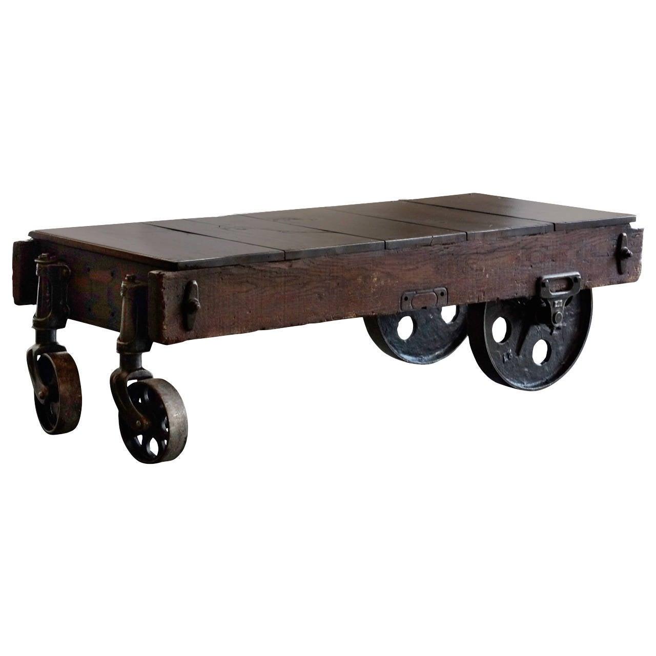 Vintage Industrial Cart Coffee Table: Vintage Industrial Coffee Table Or Cart At 1stdibs