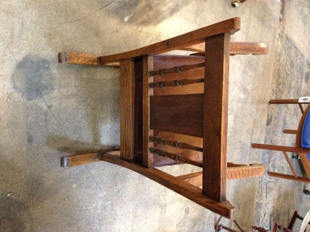Vintage rocking chair refurbished in cowhide and leather at 1stdibs
