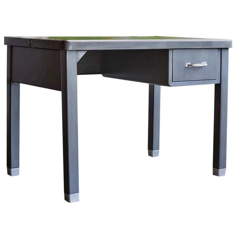 Four Legged Tanker Table With Drawer By General