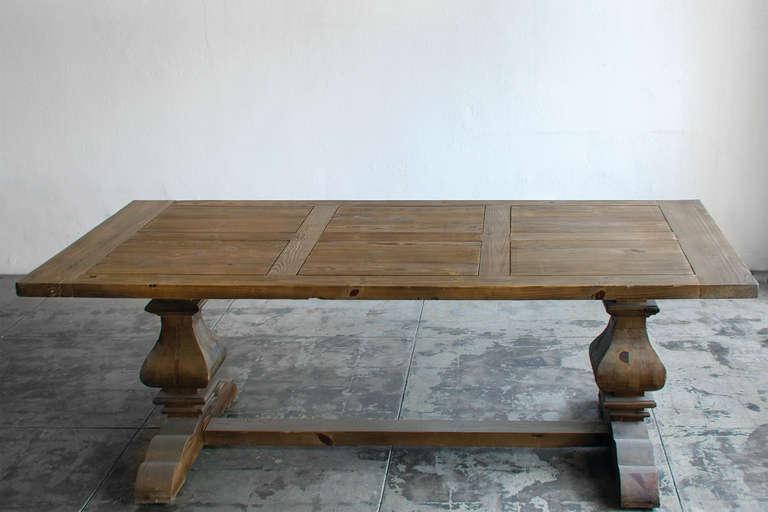 Provincial Farmhouse Trestle Dining Table Douglas Fir at 1stdibs