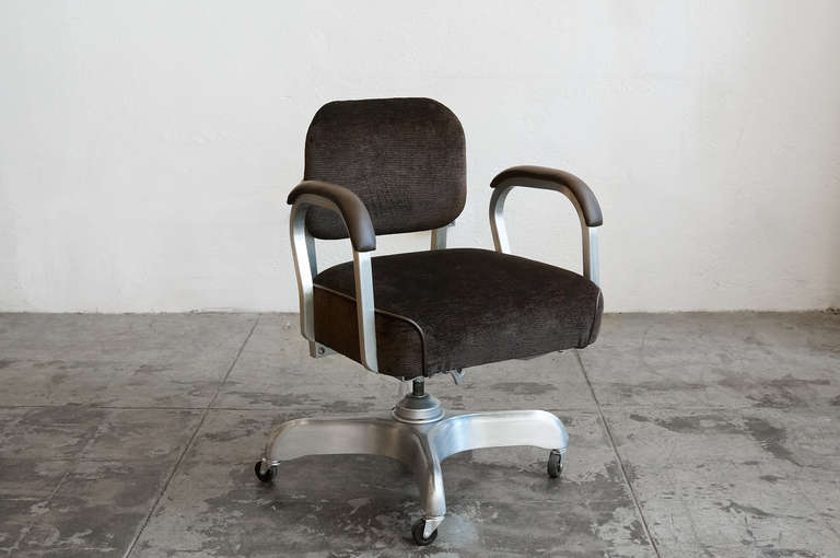 Single Loop Steno Chair In Chocolate Brown 1950s At 1stdibs
