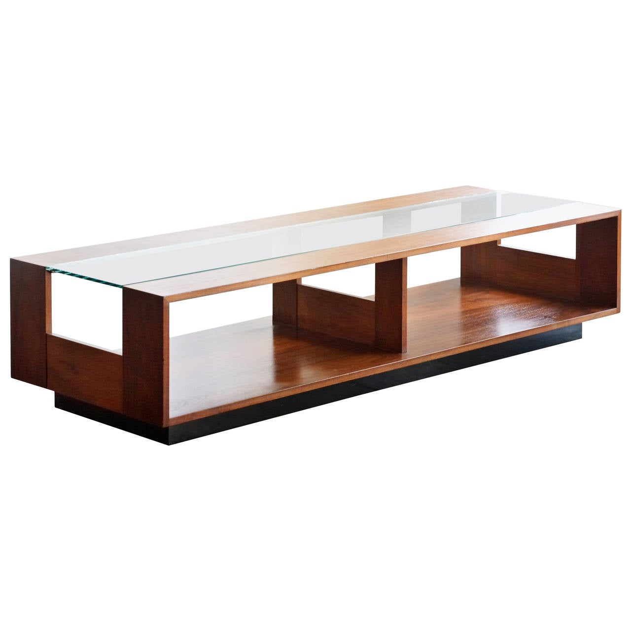 Large brown saltman display coffee table at 1stdibs for K furniture coffee table