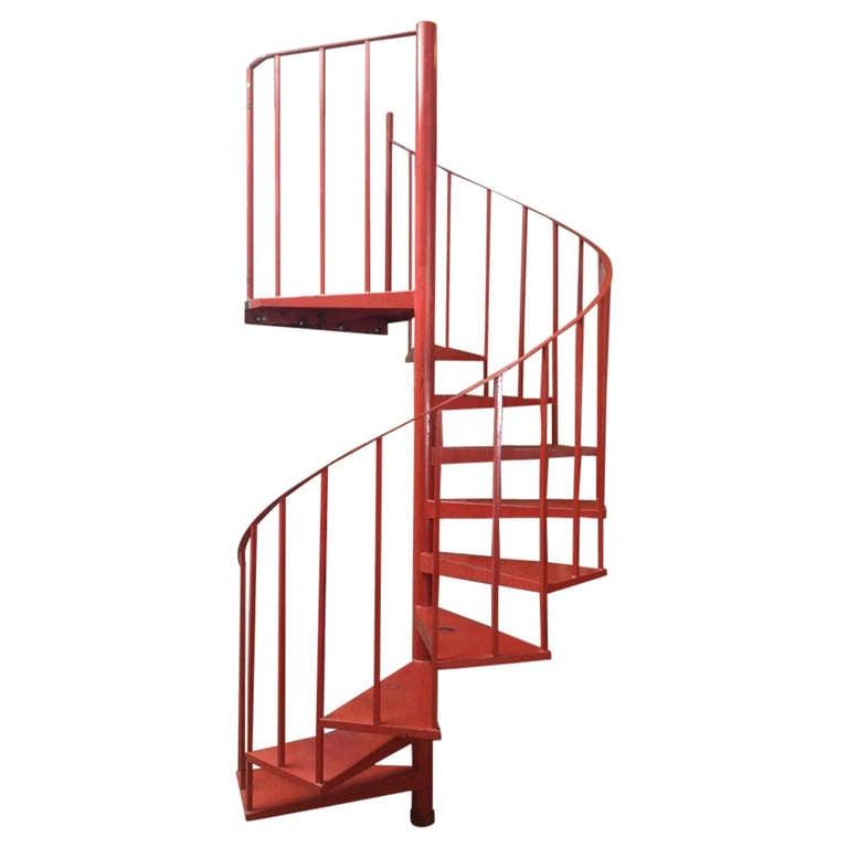 Vintage Steel Spiral Staircase 1