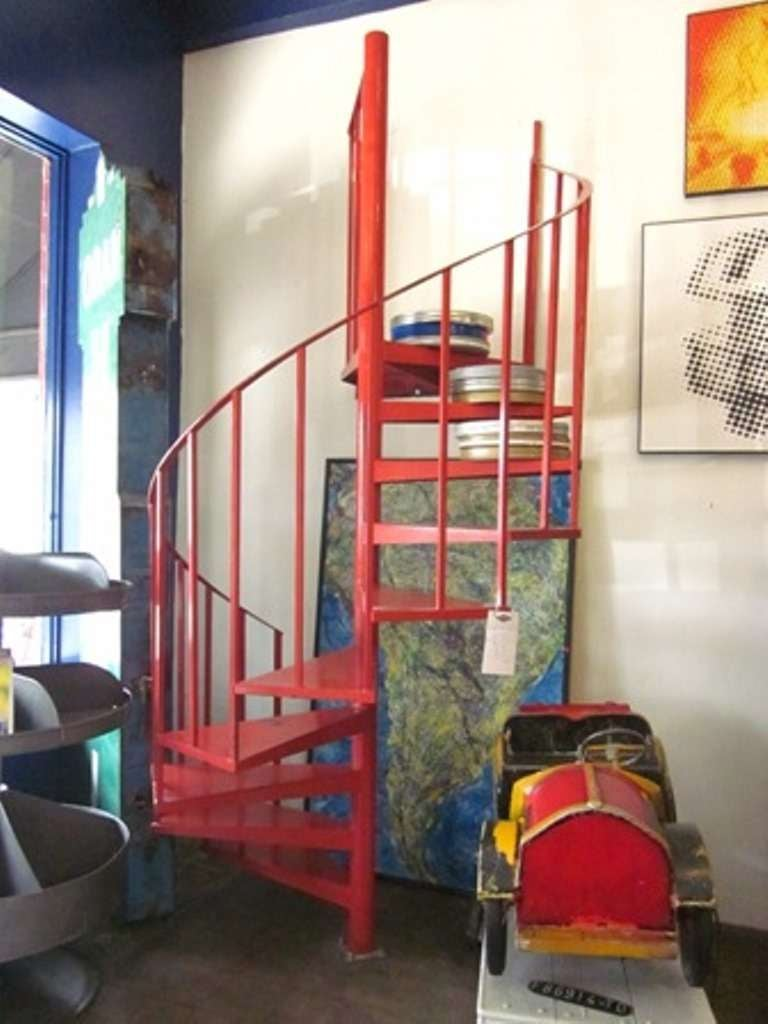 Vintage Steel Spiral Staircase 8