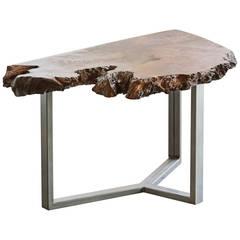 Modernist Redwood Burl Coffee Table