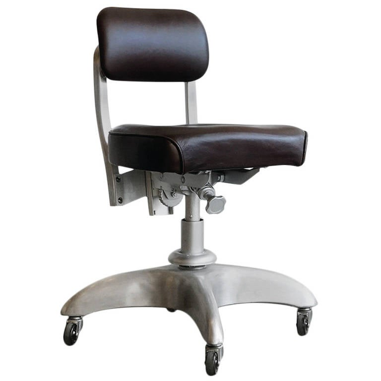 Office Chair Companies: 1950s Steno Task Chair, Good Form For General Fireproofing
