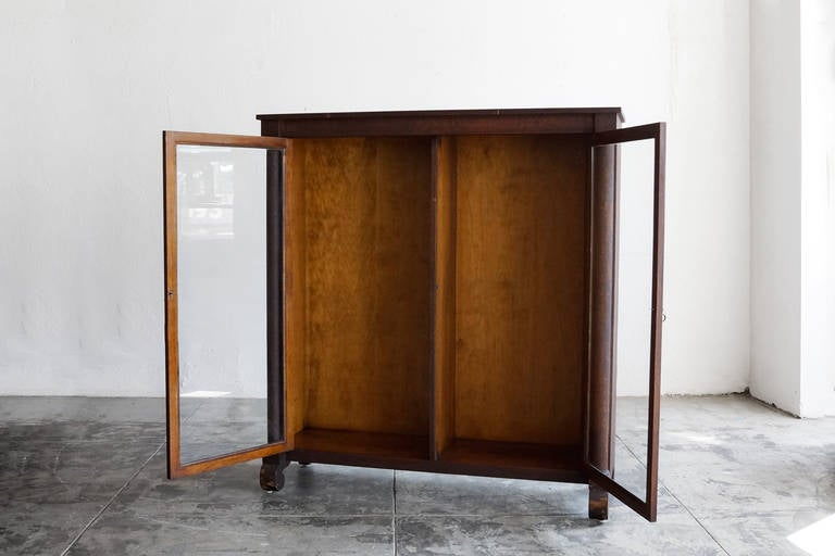Antique Display Cabinet or Bookcase, Oak, Late 1800s 3 - Antique Display Cabinet Or Bookcase, Oak, Late 1800s At 1stdibs