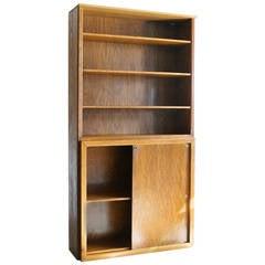 Modern Oak Cabinet Bookcase