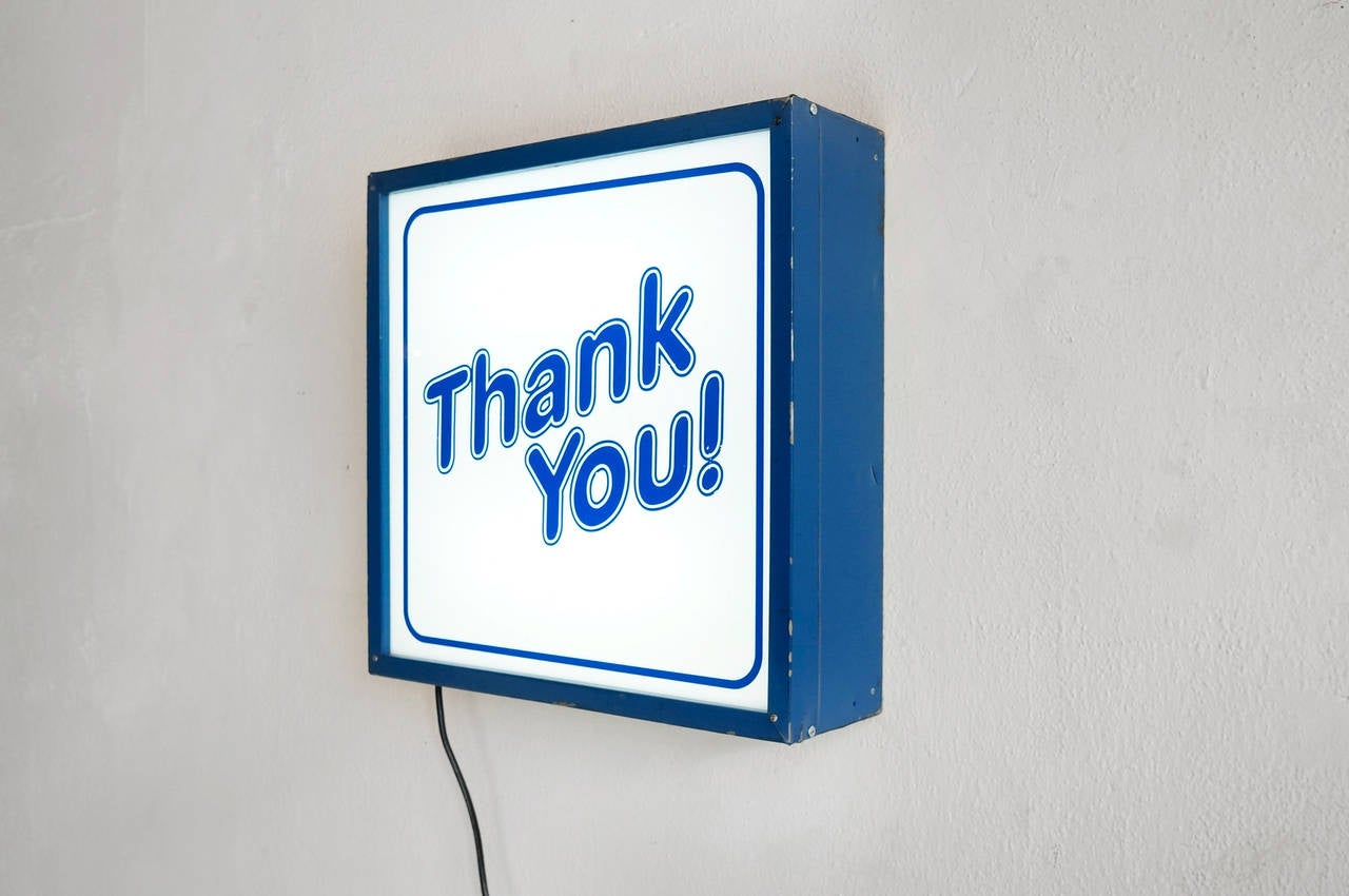 Vintage u0026quot; THANK YOU!u0026quot; Light Box Store Sign at 1stdibs