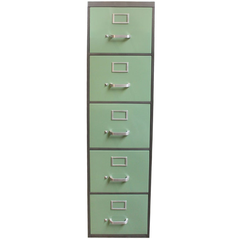 Mcdowell And Craig 5 Drawer Vertical File At 1stdibs
