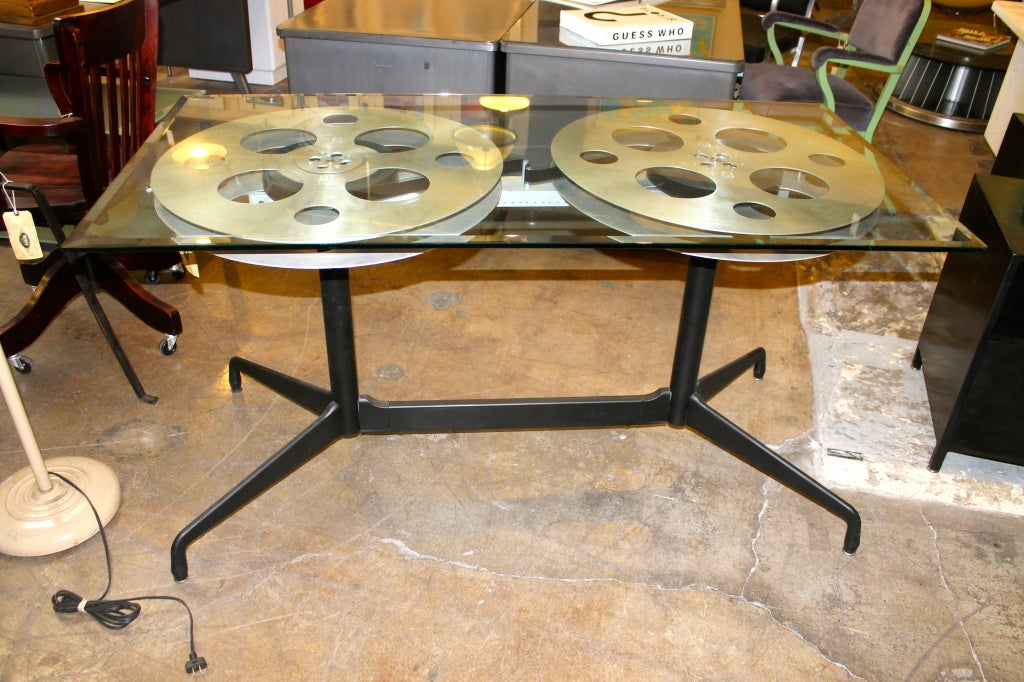 Vintage Film Reel Vintage Film Reel Table
