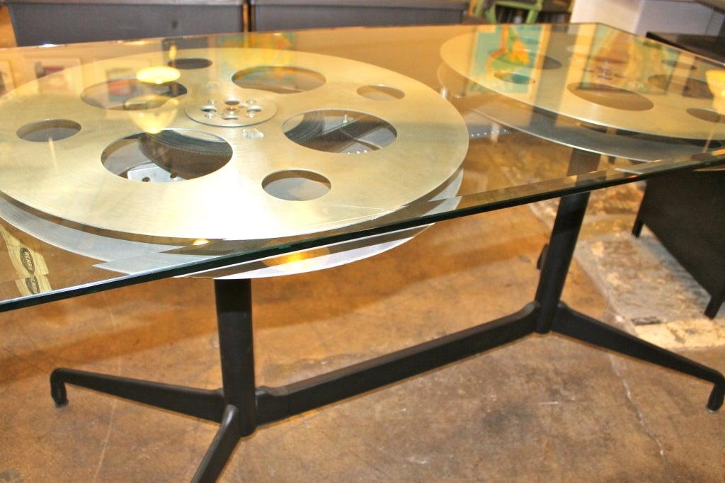 Vintage Film Reel Table Made to Order at 1stdibs