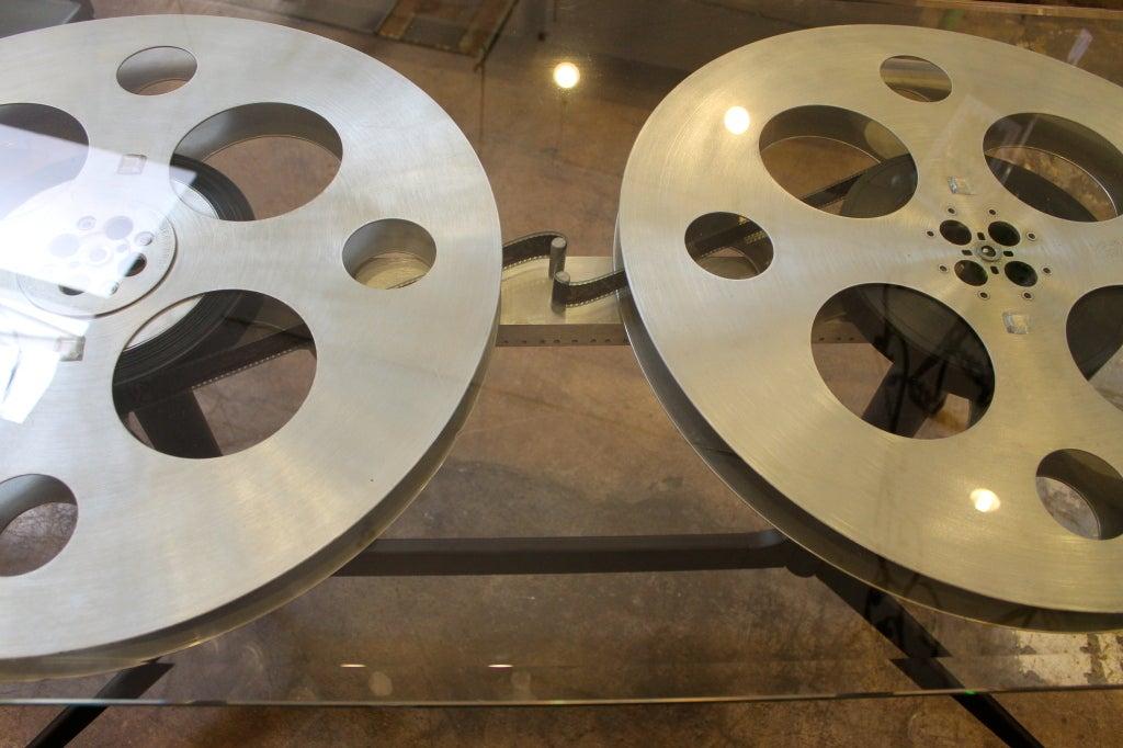 Vintage Film Reel Vintage Film Reel Table