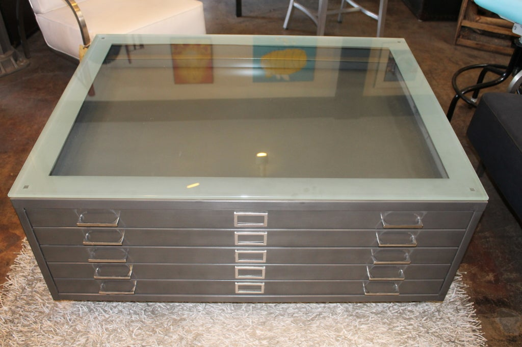 Flat File Coffee Table At 1stdibs