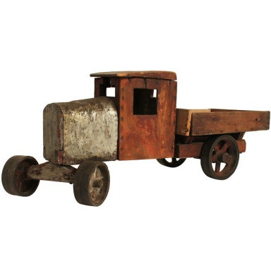 Folk Art Handmade Toy Truck