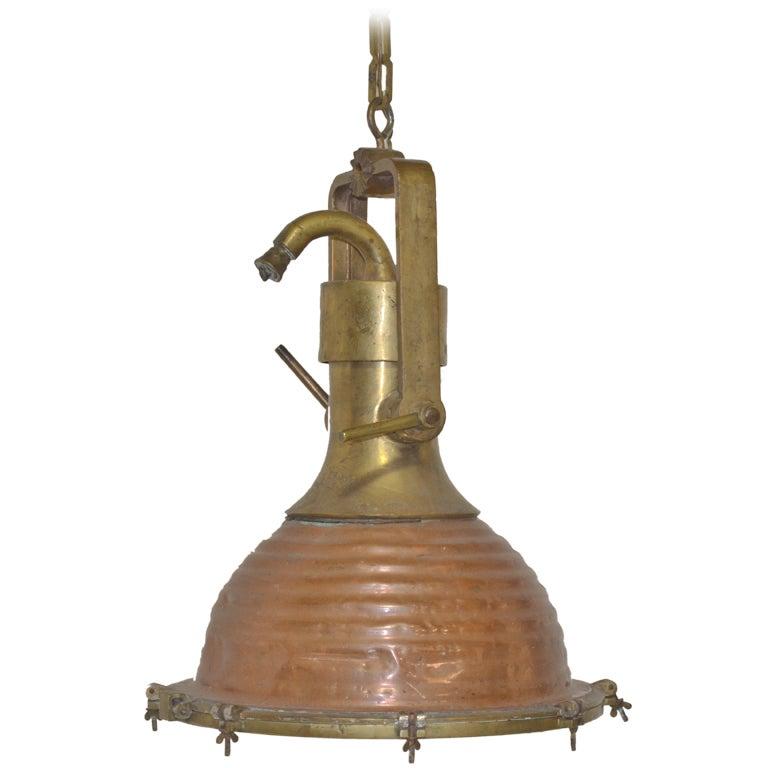 Vintage Nautical Pendant Light At 1stdibs