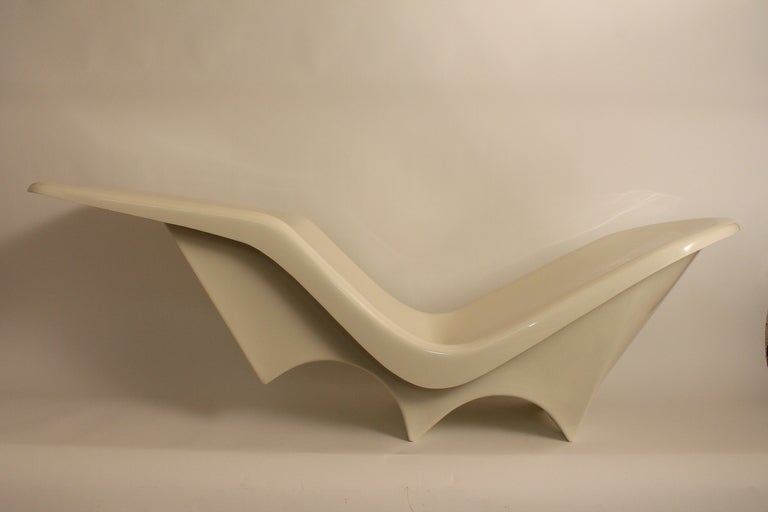 Sculpted Italian 1960's Fiberglass Chaise Lounge image 2