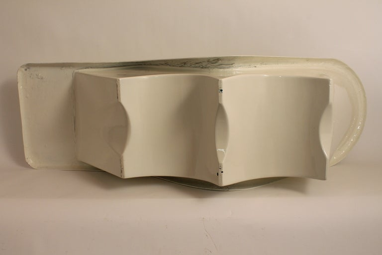 Sculpted Italian 1960's Fiberglass Chaise Lounge image 6