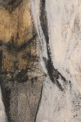 Gestural Abstract Impasto Canvas of a Bather image 4
