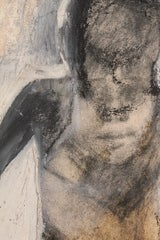Gestural Abstract Impasto Canvas of a Bather thumbnail 2