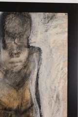Gestural Abstract Impasto Canvas of a Bather thumbnail 5