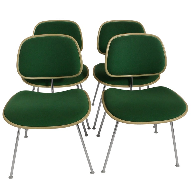 Set of Four Charles Eames for Herman Miller DCM Chairs
