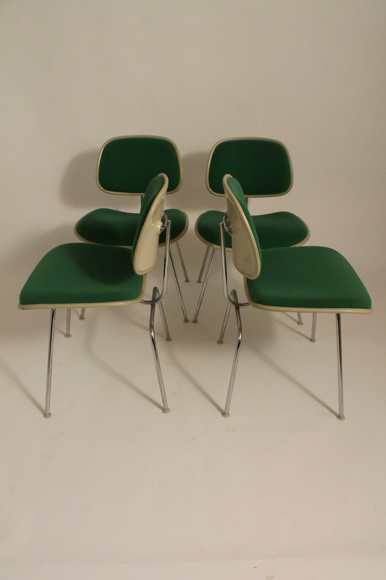 Set of Four Charles Eames for Herman Miller DCM Chairs image 2