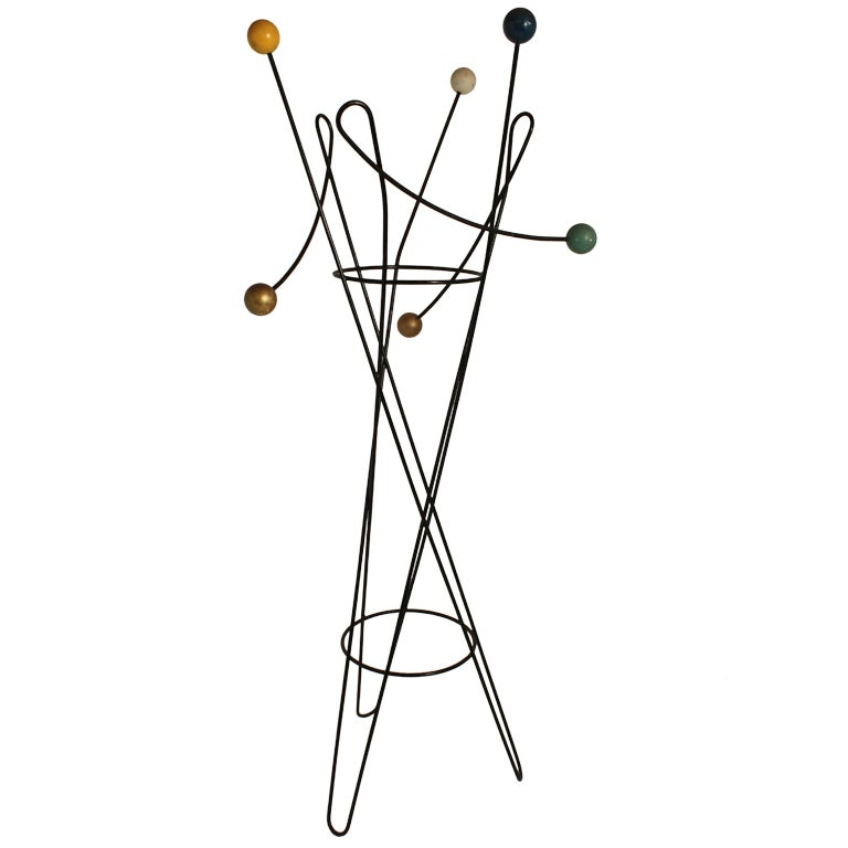 Mid Century Moderne French Sculptural Coat Rack