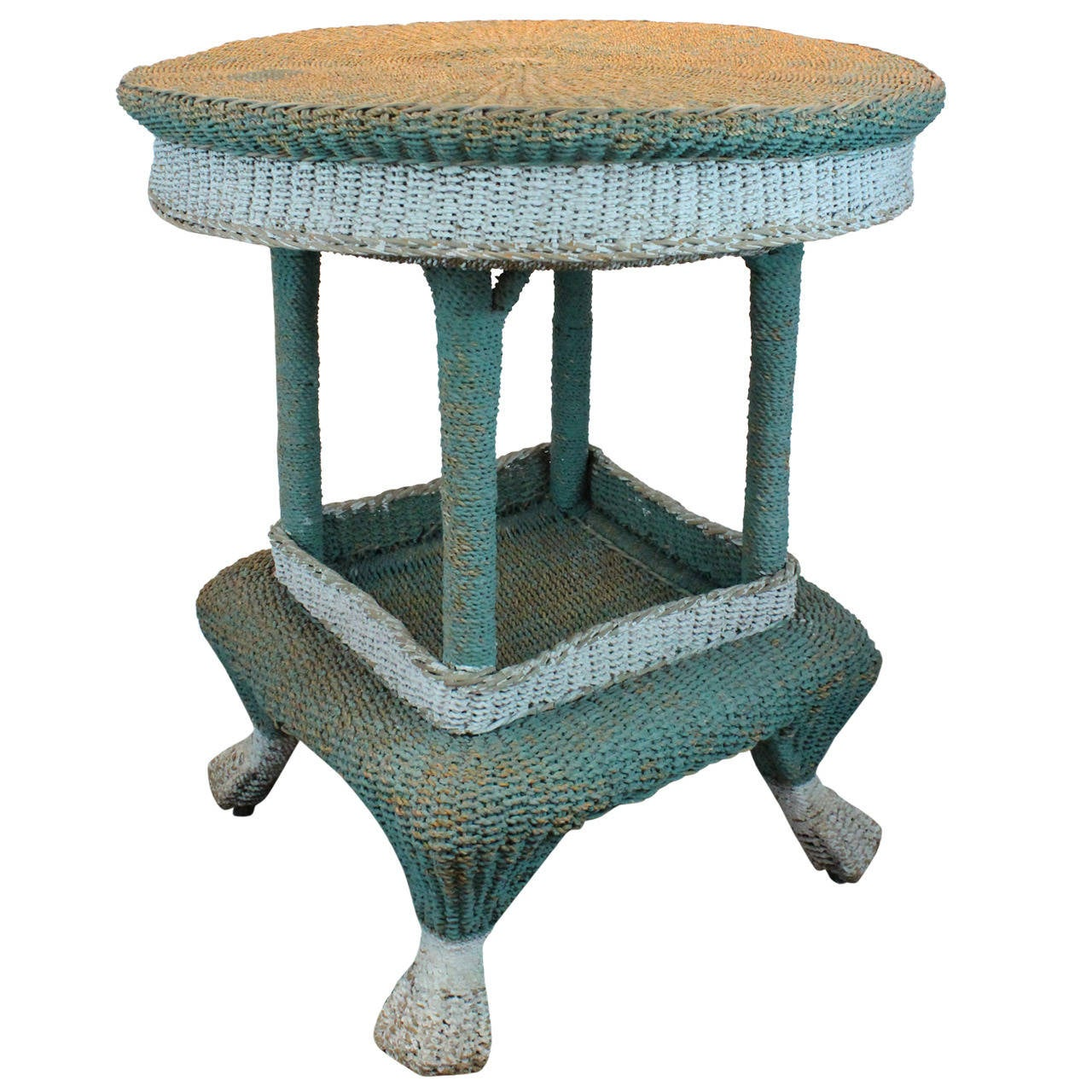 Early 20th Century Woven Seagrass Table At 1stdibs