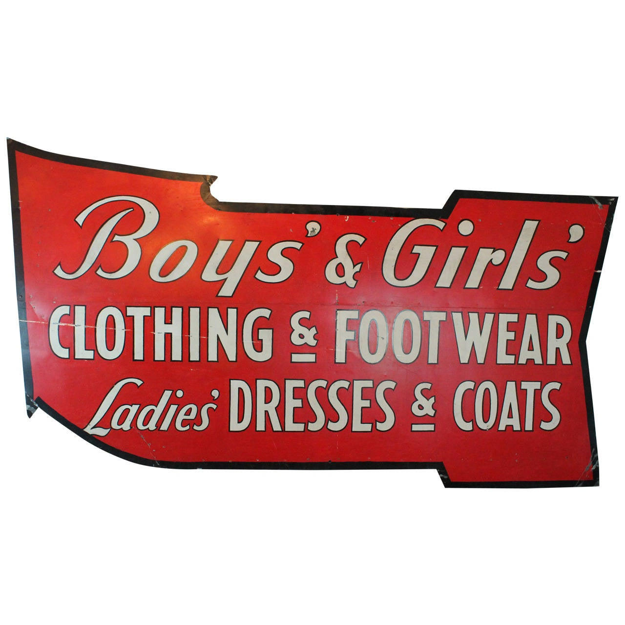 Clothing store signs