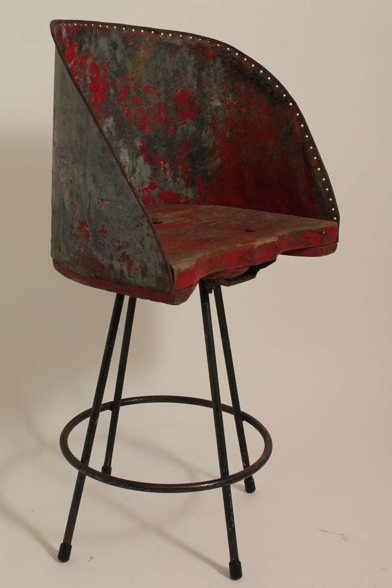 Handmade Rural Modernist Tractor Seat Barstool For Sale at  : 046l from www.1stdibs.com size 768 x 1152 jpeg 54kB