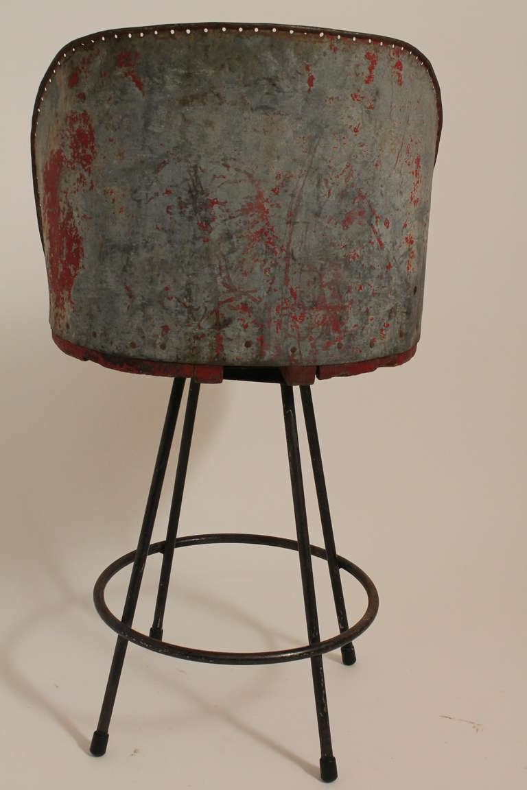 Handmade Rural Modernist Tractor Seat Barstool For Sale At