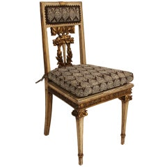 19th Century French Gilt Chair