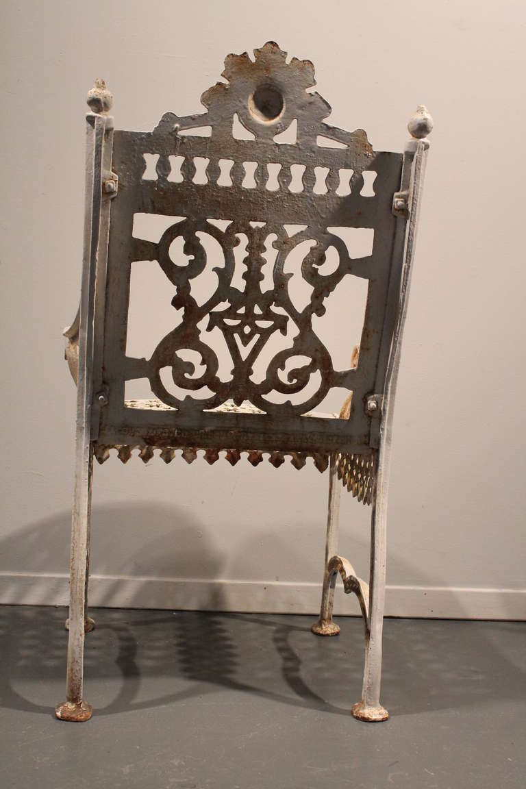 American Victorian Cast Iron Garden Chair At 1stdibs