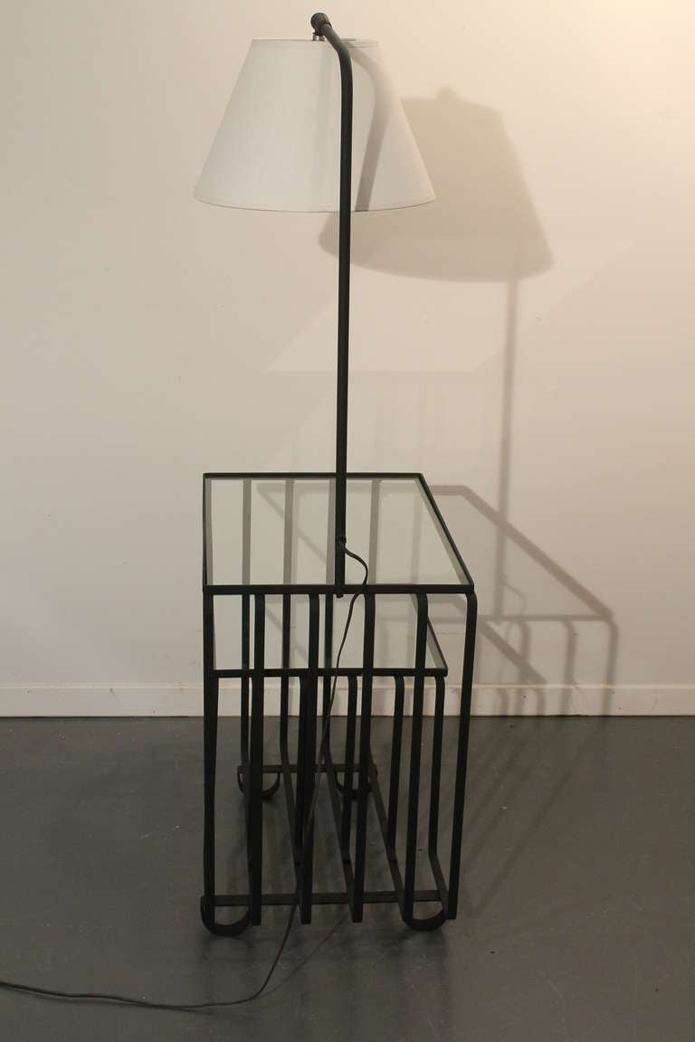 Art deco two tiered side table floor lamp at 1stdibs for 4 tier floor lamp